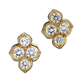 Cartier Hindu 18K Rose Gold Diamond Earrings
