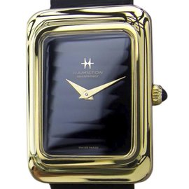 Hamilton Gold Plated Swiss Made Manual 37mm Mens Dress Watch 1970