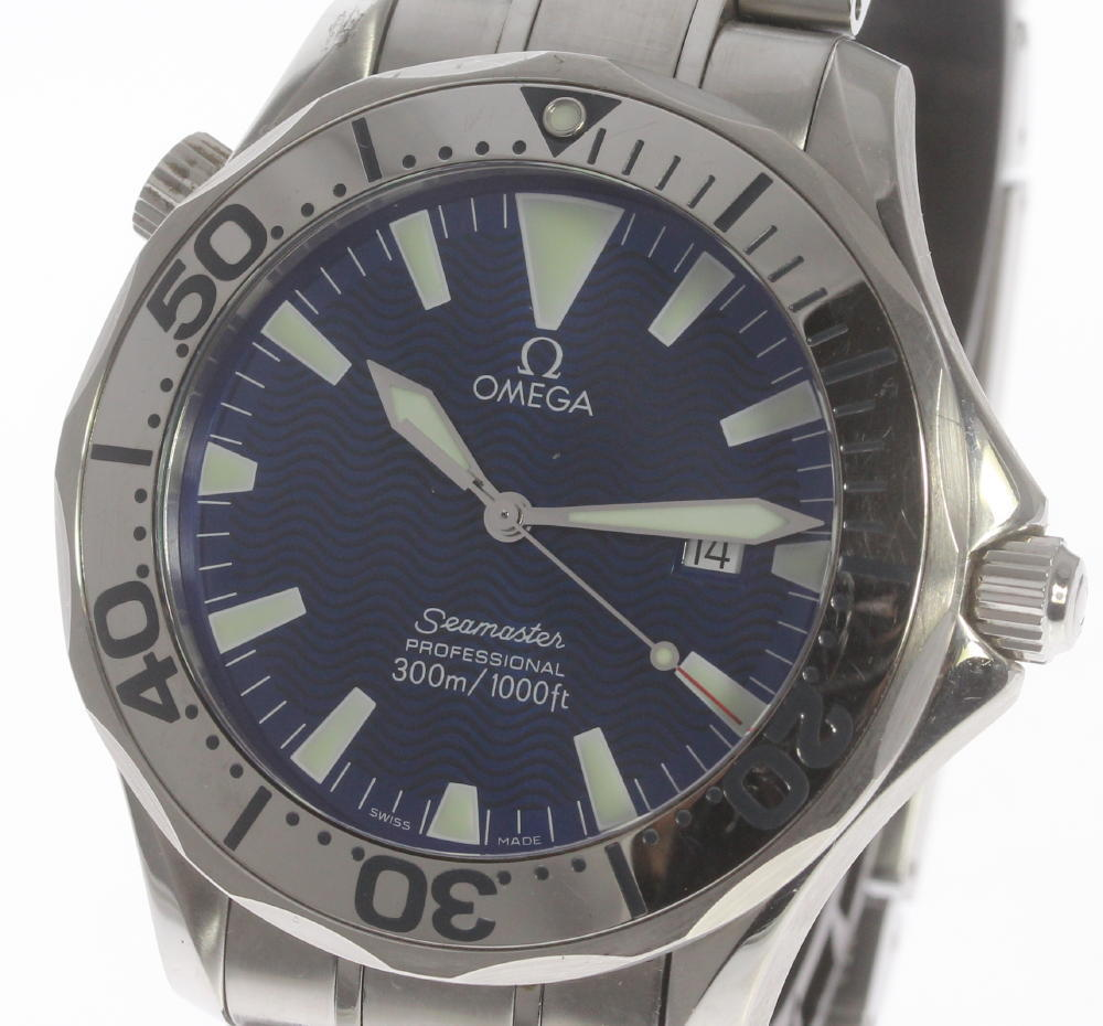"Image of ""Omega Seamaster 2265.80 Stainless Steel with Blue Dial 41mm Mens Watch"""