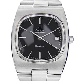 Omega Geneve SCX51 Stainless Steel with Black Dial Vintage 36mm Mens Watch