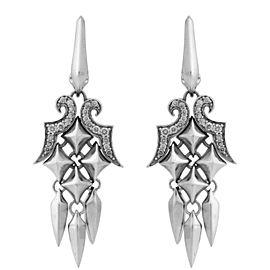 Stephen Webster 925 Sterling Silver Superstud Diamond Dangle Earrings
