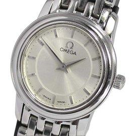 Omega DeVille Prestige Stainless Steel Silver Dial 22mm Quartz Watch