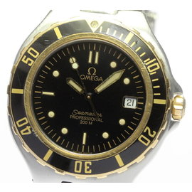 Omega Seamaster Stainless Steel / Yellow Gold with Black Dial 36mm Mens Watch