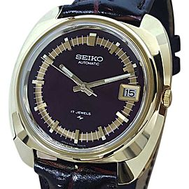 Seiko Actus 7005 7089 Gold Plated Automatic 38mm Mens Watch 1970s