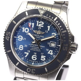 Breitling Super Ocean II A17392 Stainless Steel Automatic Blue Dial 44mm Mens Watch