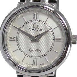 Omega DeVille Prestige Stainless Steel Silver Dial Quartz 23mm Womens Watch