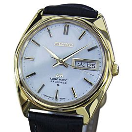 Seiko Lord Matic Gold Plated and Stainless Steel Automatic 36mm Vintage 1970s Mens Watch