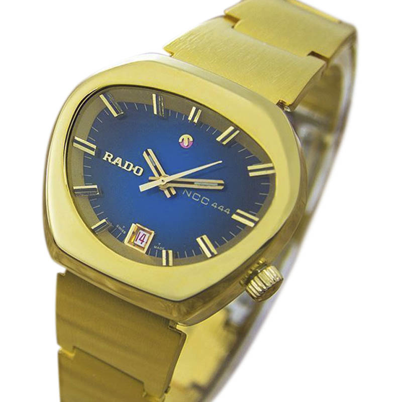 """Image of """"Rado Ncc444 Gold Plated Stainless Steel Automatic 28mm Womens Watch"""""""
