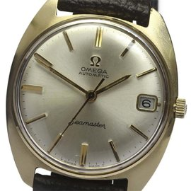 Omega Seamaster Stainless Steel / Gold Plated with Silver Dial Vintage 33mm Mens Watch