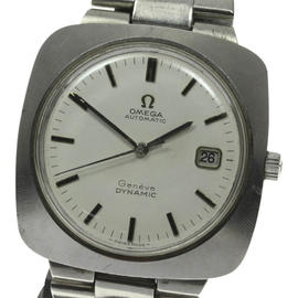 Omega Geneve Dynamic Stainless Steel Date Automatic 39mm Mens Vintage Watch