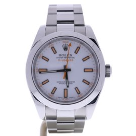Rolex Milgauss 116400 Stainless Steel White Dial Automatic 40mm Mens Watch 2008