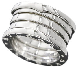 Bulgari 18K White Gold B-zero1 4-band Ring Size 7