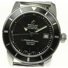 Breitling Super Ocean Heritage46 A17321 Stainless Steel Black Dial Automatic 42mm Mens Watch