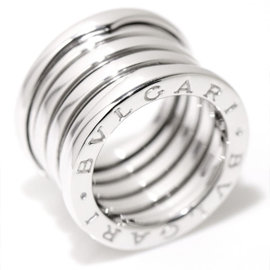 Bulgari B-Zero-1 18K White Gold Band Ring Size 5.0