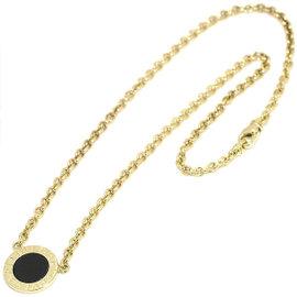 Bulgari 18K Yellow Gold Onyx Necklace