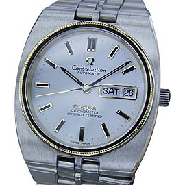 Omega Constellation MX101 Stainless Steel / 18k Yellow Gold with Silver Dial Vintage 36mm Mens Watch