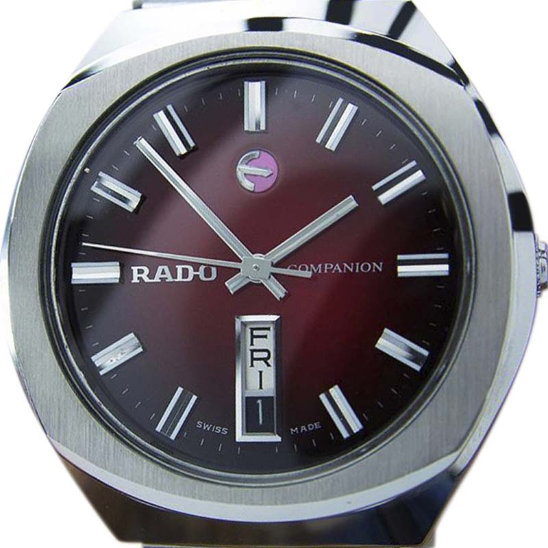 "Image of ""Rado Companion Stainless Steel Automatic Vintage 35mm Mens Watch c1970"""