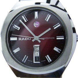 Rado Companion Stainless Steel Automatic Vintage 35mm Mens Watch c1970