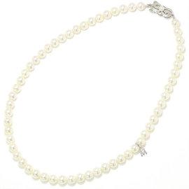 Mikimoto 925 Sterling Silver Akoya Pearl Neckalce