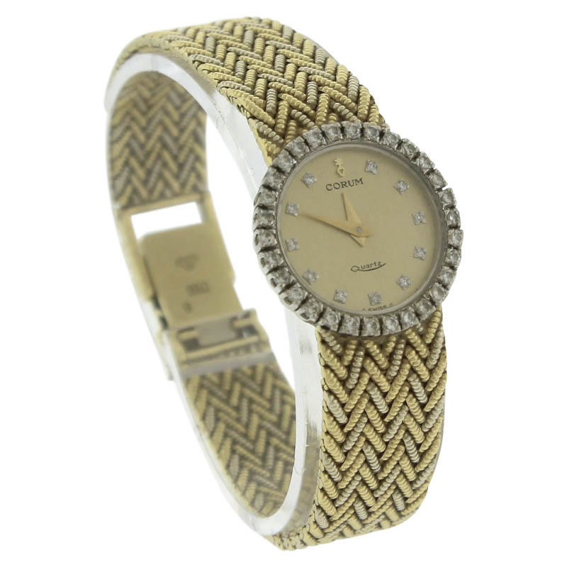 "Image of ""Corum 18K Yellow Gold Quartz Vintage 21mm Womens Watch"""