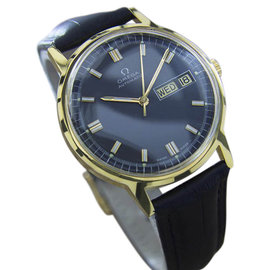 Omega Calibre 1020 MX29 Stainless Steel & Gold Plated with Black Dial Vintage 35mm Mens Watch