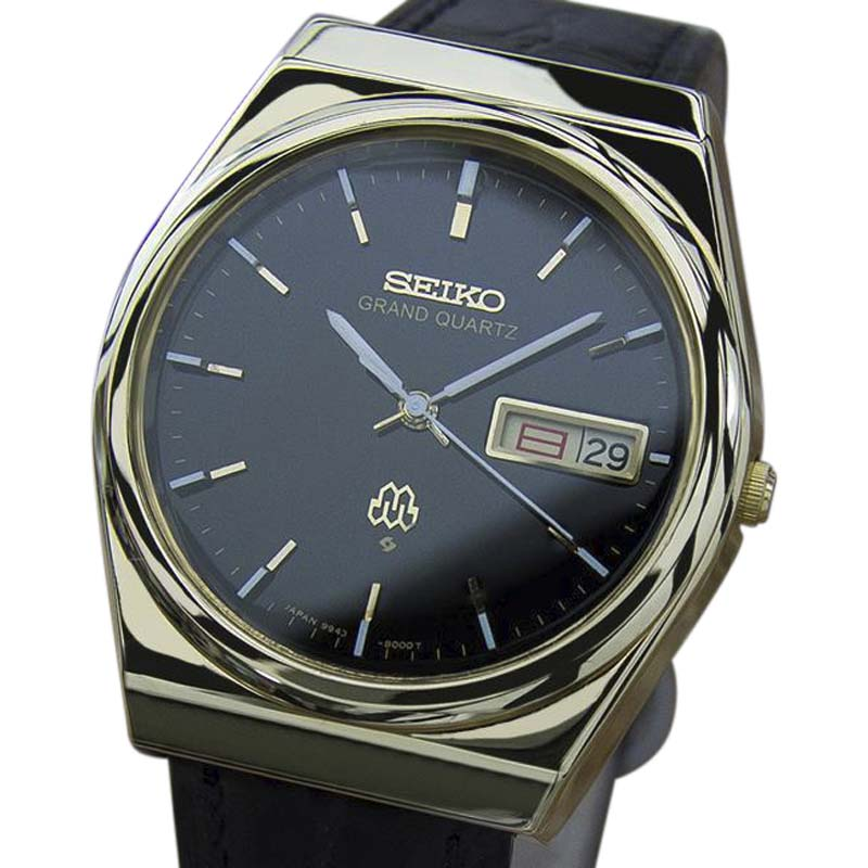 "Image of ""Seiko King Gold Plated Stainless Steel & Leather Quartz 36mm Mens"""