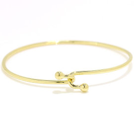Tiffany Co. 18K Yellow Gold Double Hook Bangle