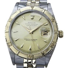 Rolex Datejust Stainless Steel With 14K Yellow Gold Vintage 36mm Mens Watch