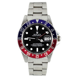 Rolex GMT Master 1675 Stainless Steel Automatic Vintage 38mm Mens Watch
