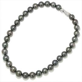 Mikimoto 18K White Gold & Black Pearl Necklace