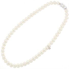 Mikimoto 18K White Gold & Akoya Pearl Necklace