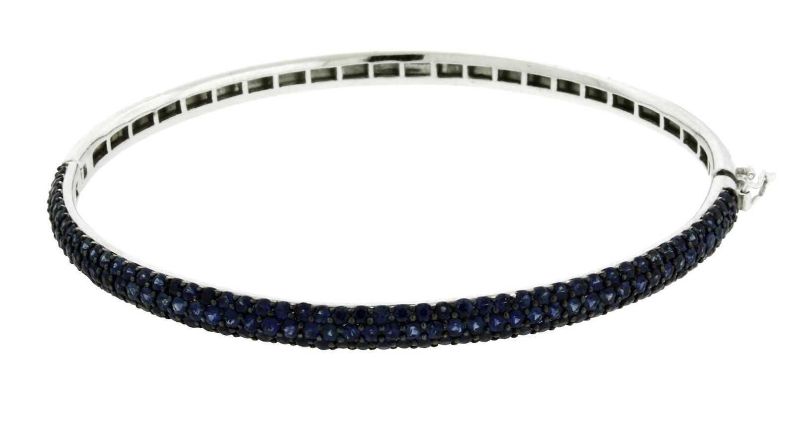 "Image of ""Effy 14K White Gold 2.68ct Sapphire Bangle Bracelet"""