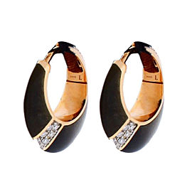 Chimento 18K Pink Gold Desiderio Pave Diamond & Obsidian Earrings