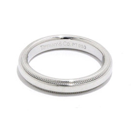 Tiffany & Co. 950 Platinum Milgrain Band Ring Size 4.5