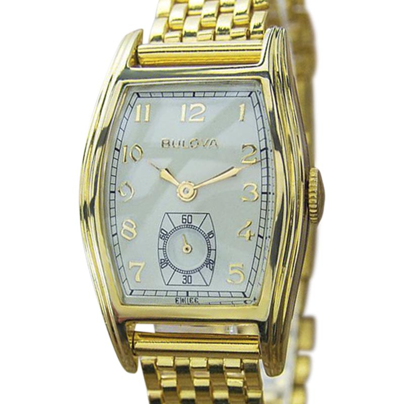 "Image of ""Bulova 10k Yellow Gold Filled Vintage 40mm Unisex Watch"""