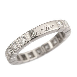 Cartier Lanieres 18K White Gold Diamond Ring Size 4