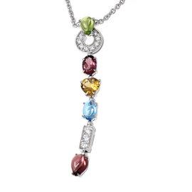 Bulgari Allegra 18K White Gold Multi-Stone Diamond Necklace
