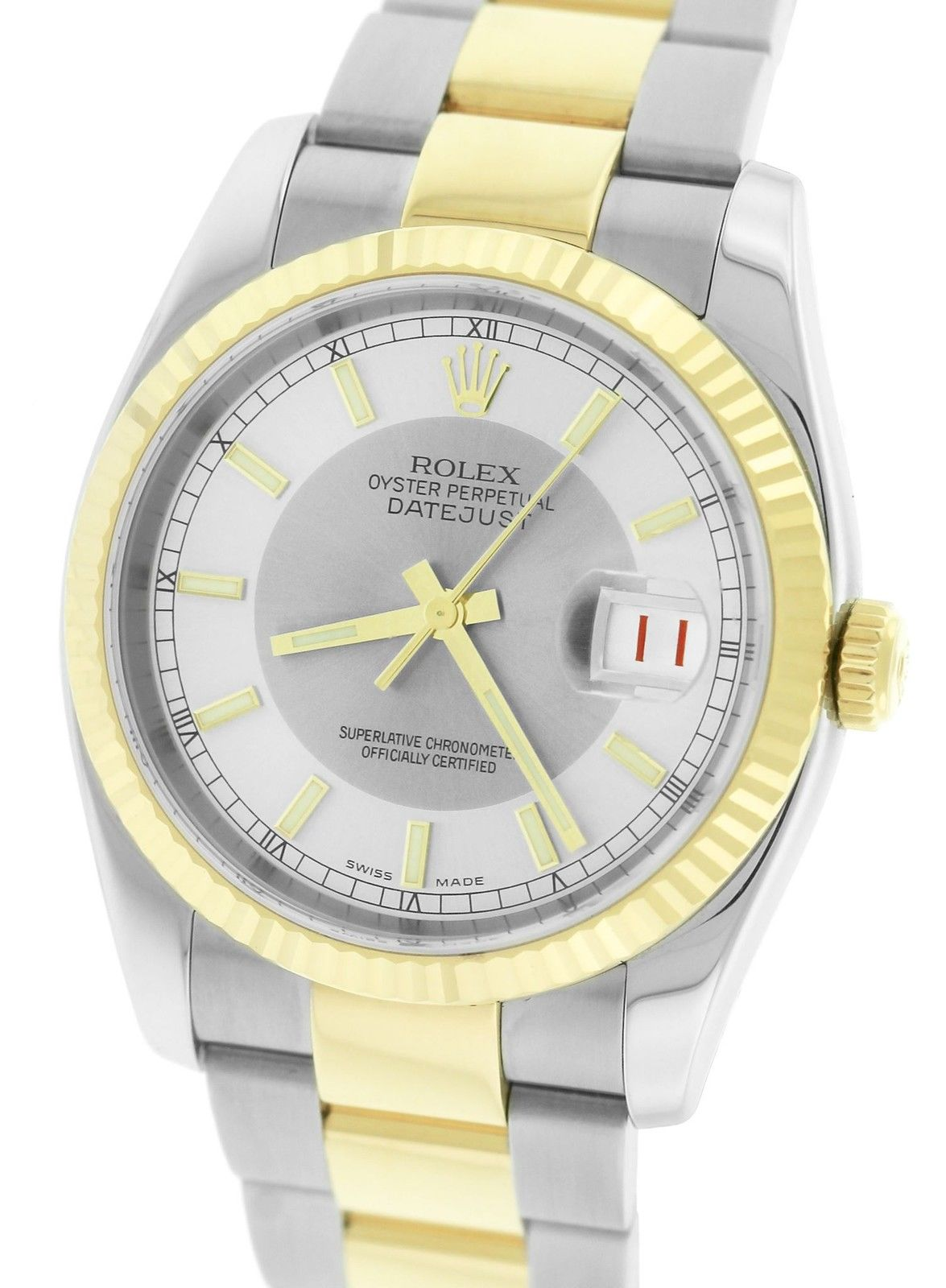 """Image of """"Rolex Datejust 116233 18K Yellow Gold Stainless Steel Silver Gray Dial"""""""