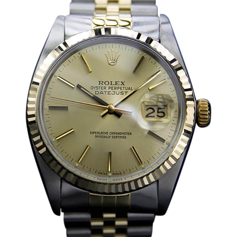 "Image of ""Rolex Oyster Datejust 16013 Stainless Steel With 18K Yellow Gold"""