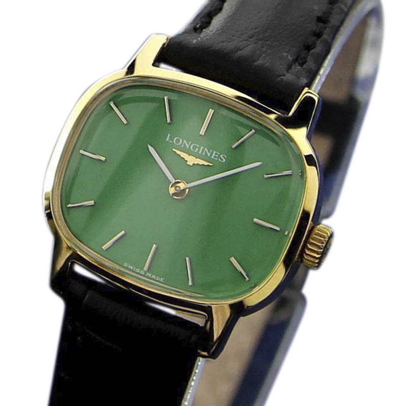 """Image of """"Longines Gold Plated Stainless Steel / Leather Vintage 24mm Womens"""""""