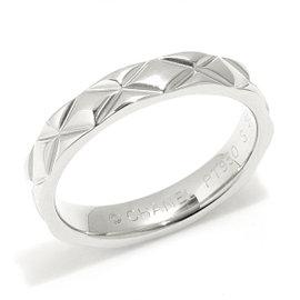 Chanel Matelasse 950 Platinum Ring Size 5.75
