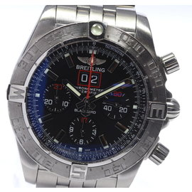 Breitling A44360 Stainless Steel Black Dial Automatic 44mm Men's Watch