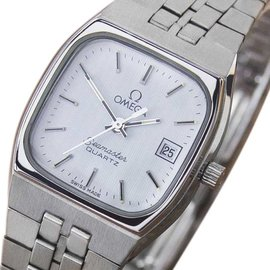 Omega Seamaster Stainless Steel White Dial Quartz Vintage 24mm Womens Watch 1970s