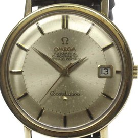 Omega Constellation Stainless Steel / Gold Plated Pie Pan Dial Automatic 35mm Mens Watch