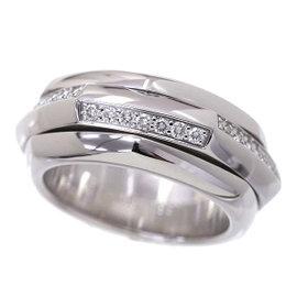Piaget 18K White Gold Diamond Ring Size 7.0