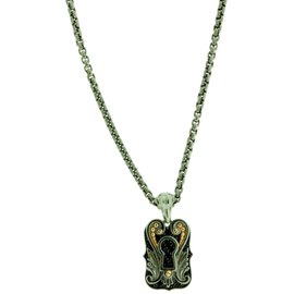 Stephen Webster 925 Sterling Silver Mini Key Hole Dog Tag Necklace