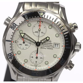 Omega Seamaster 300 2598.20 Stainless Steel Chronograph White Automatic 42.5mm Mens Watch