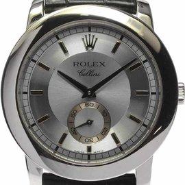 Rolex Cellini 5214 Cellinium Platinum Hand-Winding 38mm Mens Watch