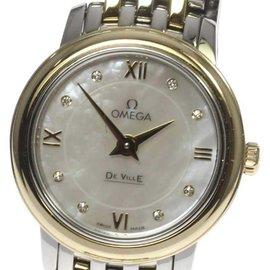 Omega DeVille Prestige 424.20.24.60.55.001 Mother of Pearl Diamond Quartz 24mm Womens Watch