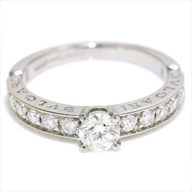Bulgari Dedicata A Venezia Platinum 0.30ct Diamond Ring Size 5